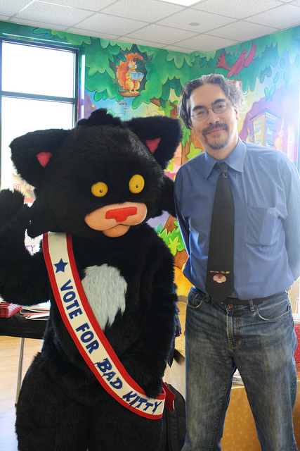 Nick Bruel and Bad Kitty.