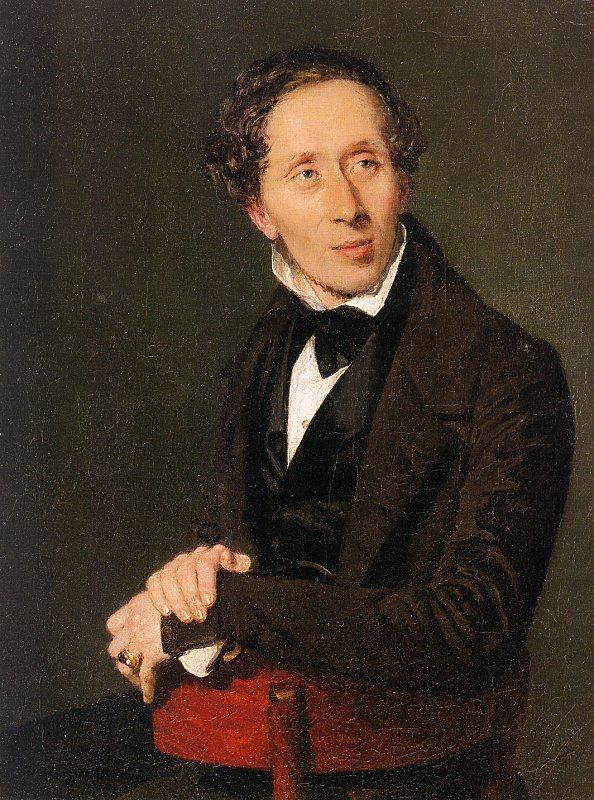 A portrait of Hans Christian Andersen from 1836.