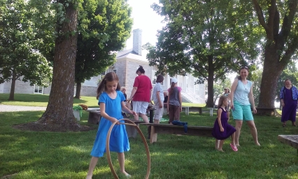 Belle Grove Stories on the Lawn Colonial Toys Hoop Rolling