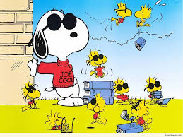 Joe Cool Snoopy with Woodstock and Books