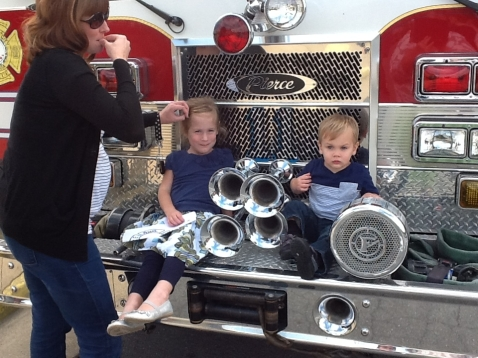 Fire engine front 2 kids
