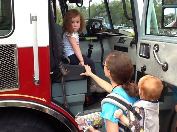 riding in the fire engine