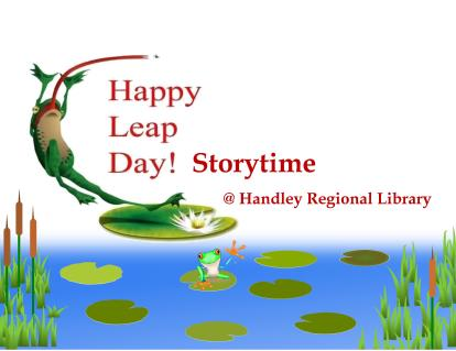 Happy Leap Day storytime title card 300dpi