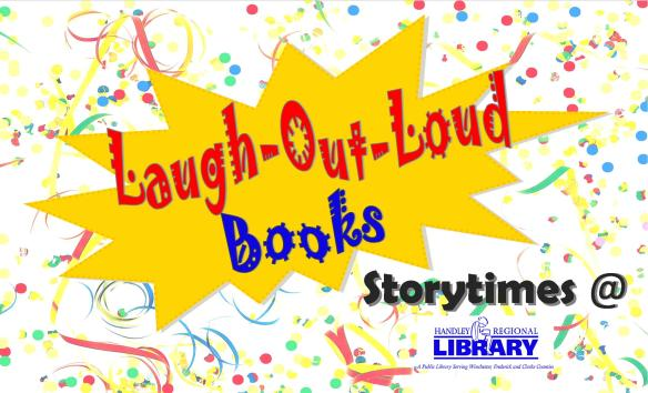 Laugh out loud storytime title card