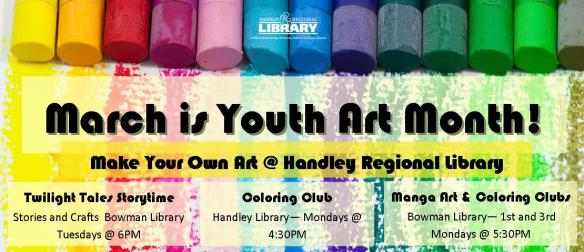 March is Youth Art Month Banner 2