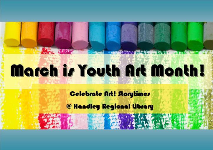March is Youth Art Month title card