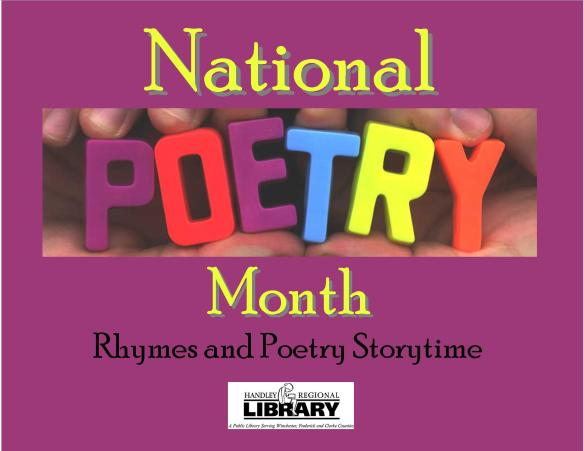 National Poetry Month storytime title card2