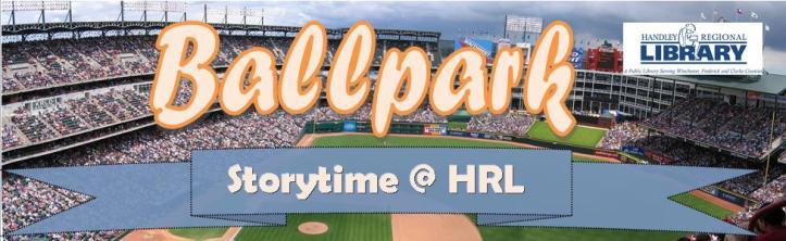 Ballparks Storytime Title Card