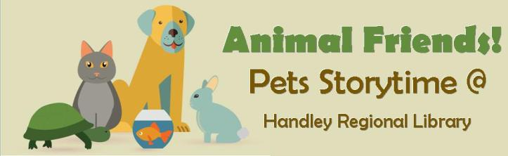 Pets Storytime Title Card