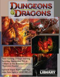 Dungeons and Dragons Flyer